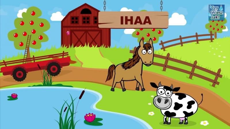 Zwierzęta dla dzieci - Nauka zwierząt na wsi - Odgłosy zwierząt _ CzyWieszJak