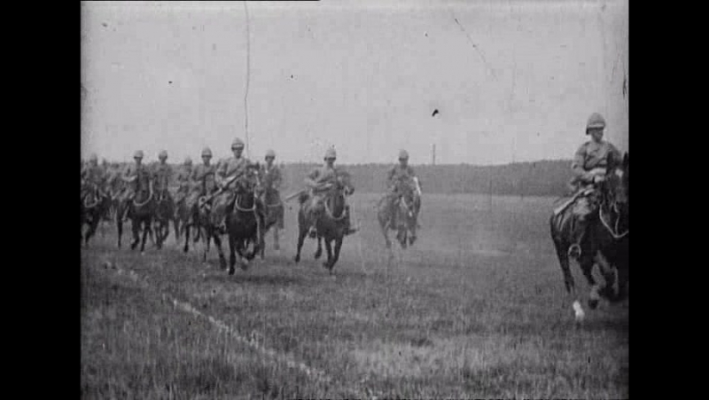28 Army life, Mounted Infantry (Robert W.Paul, 1900)