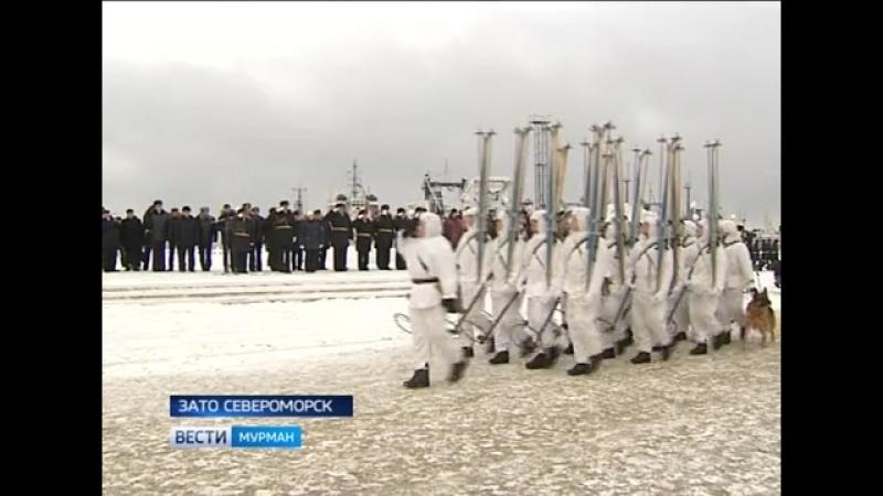 24.02.18 - Праздничный парад СФ в Североморске - ГТРК Мурман