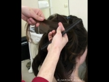 В результате получилась изумительно нежная причёска