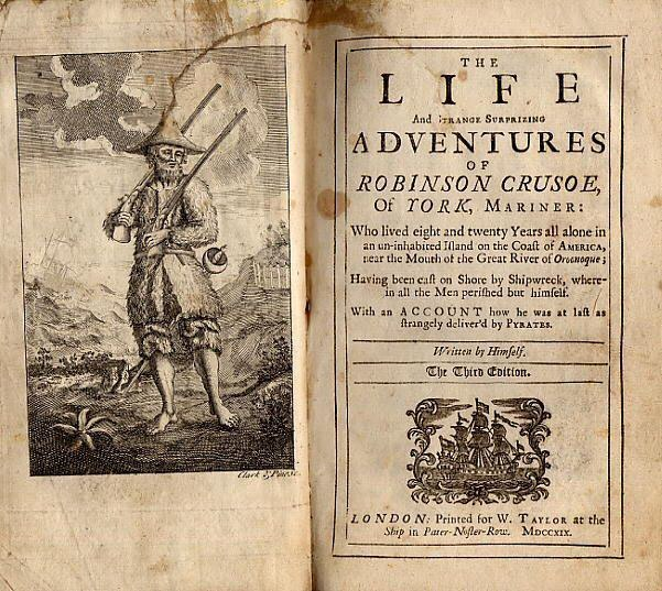 robinson crusoe was published in 1719 Robinson crusoe: the novel robinson crusoe, by daniel defoe, was first published in 1719.