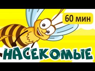 НАСЕКОМЫЕ! и другие развивающие мультики для малышей! Учим насекомых и животных для детей