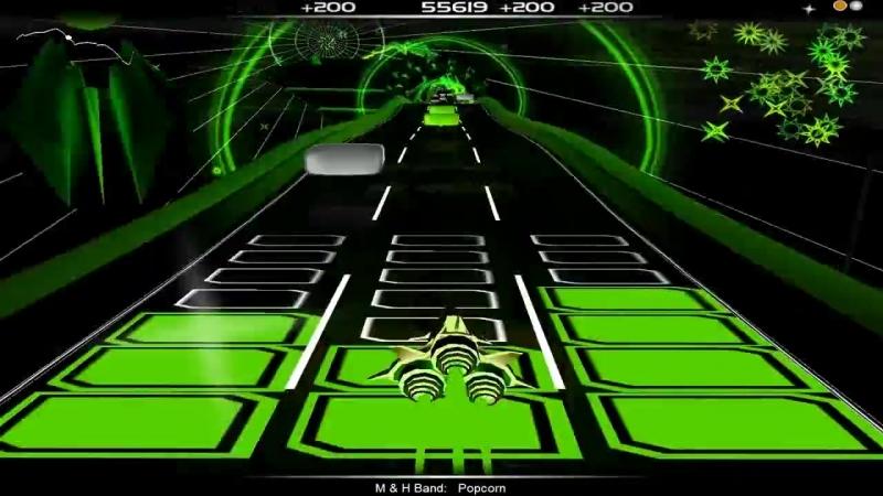 Audiosurf - The Popcorn Song - Ninja Mono - No Greys_(720p)