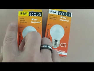Светодиодная лампа Ecola шар 5.4Вт Е27 Композитный радиатор