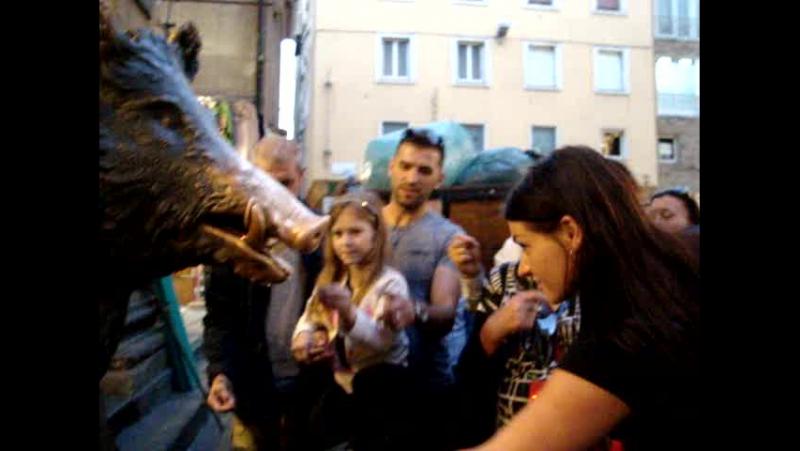флоренция статуя кабанчика исполняющая желания с нового рынка