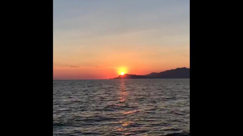 Sunset in Fethiye Oludeniz bluelagoon