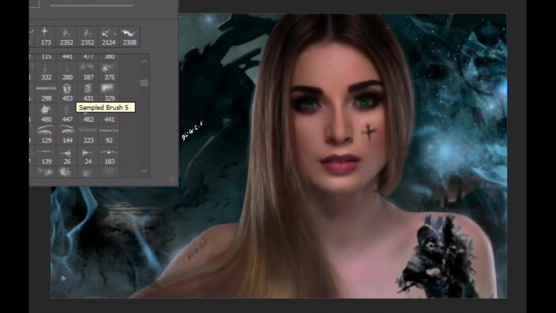 Art Speed Девушка в ночь Титанов Фантастика