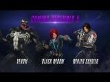 Геймплей Marvel vs. Capcom- Infinite: Зимний Солдат, Веном и Черная Вдова.