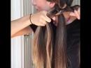 Секреты косы из 4 прядей 🖤🖤🖤