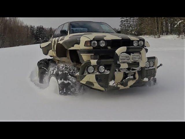BMW X7 750 E32 Биг-Фут Валькирия ! Снег и сугробы !