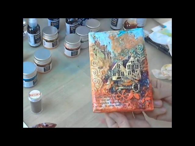 Открой волшебство красок, чудо домик в лесу видео мастер-класс по микс медиа Натальи Жуковой