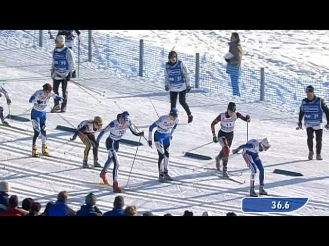 Kristina Smigun vs Virpi Kuitunen Women's 10km Pursuit at World Championship 2003 Val di Fiemme (HD)