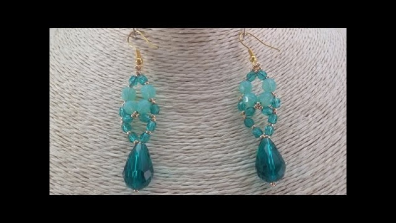 Tutorial: fire polish drop earrings / Orecchini goccia in mezzo cristallo