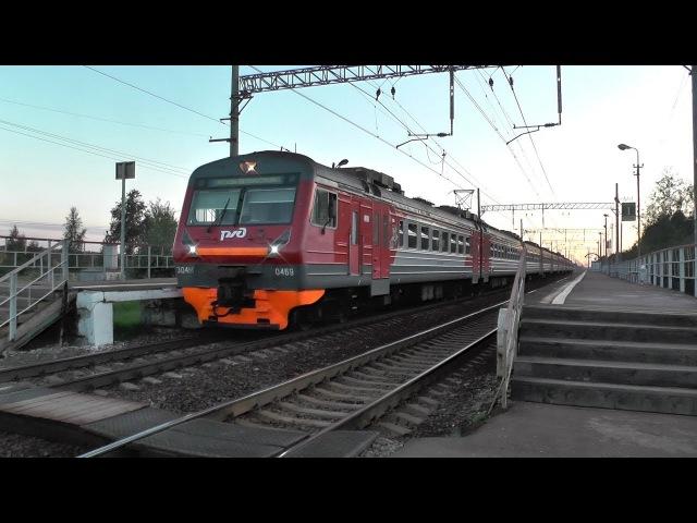 Электропоезд ЭД4М-0469 платформа Портновская