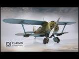Polikarpov I-153 Chaika - 148 scale ICM model kit - aircraft model