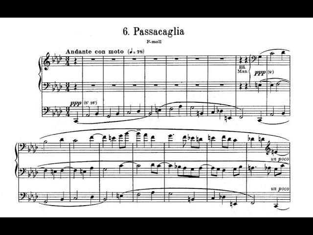 Reger: Passacaglia f-Moll op. 63 Nr. 6