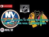 New York Islanders vs Chicago Blackhawks  #NHL 2017 - 2018 week 15  Predictions #NHL18