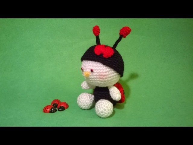 Coccinella SUBTITULOS ESPANOL ENGLISH Tutorial Amigurumi Ladybug Crochet -Mariquita Joaninha Croche