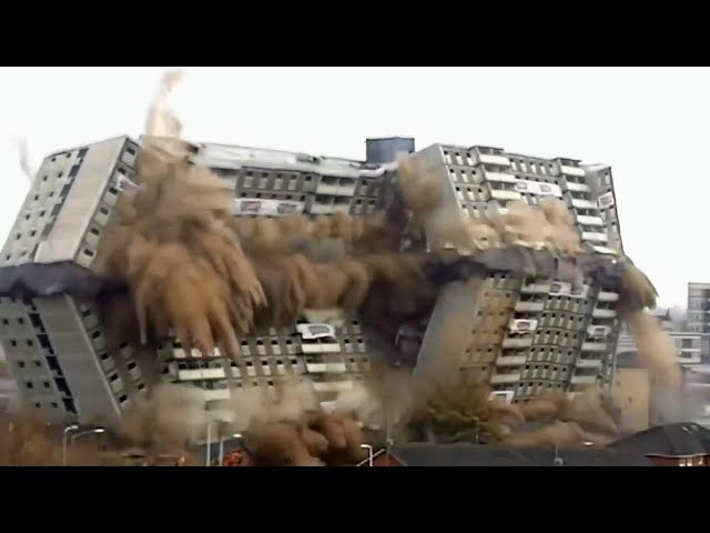 ►Зрелищный СНОС Огромных ДОМОВ и МОСТОВ Взрывом | Spectacular Explosion demolition HUGE HOUSES