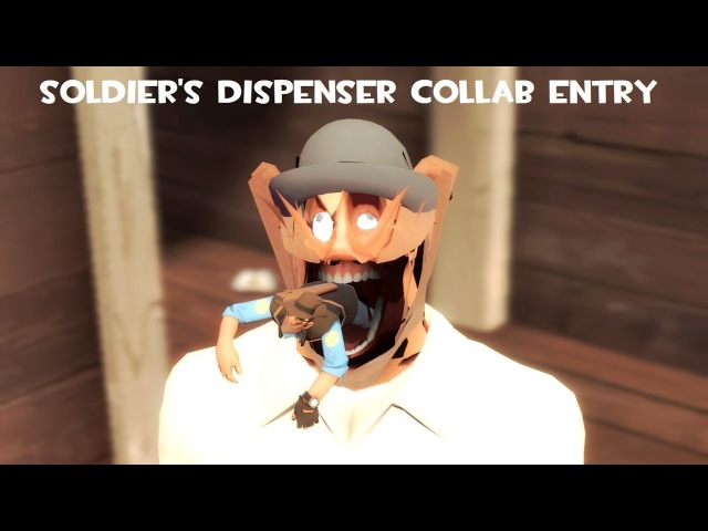Soldier wants to eat his boot (Soldier's Dispenser Collab Entry)