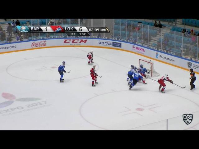 Моменты из матчей КХЛ сезона 16/17 • Гол. 1:7. Павел Красковский (Локомотив) отличился в большинстве 22.10