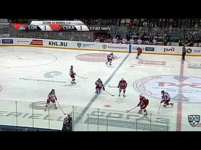 Моменты из матчей КХЛ сезона 16/17 • Гол. 2:1. Красковский Павел (Локомотив) забрасывает шайбу в ворота соперника 14.03