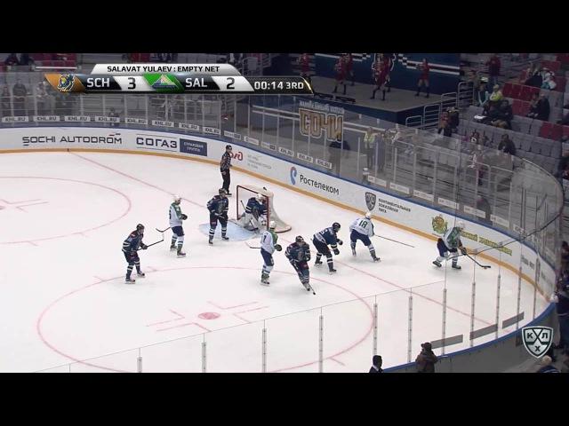 Моменты из матчей КХЛ сезона 16/17 • Гол. 3:3. Лисин Энвер (Салават Юлаев) с пятачка пробросил в ворота 19.11