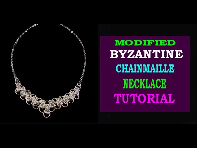 MODIFIED BYZANTINE CHAINMAILLE NECKLACE TUTORIAL EASY TUTORIAL