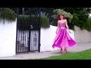 Ameynra fashion - Pink chiffon bicolor petal skirt. Sofia Goldberg