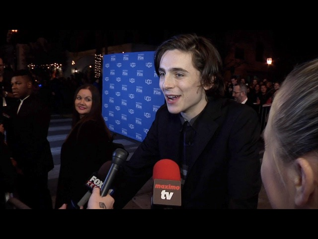 Timothee Chalamet On Flu Vaccination A la 'Family Guy' 2018 SBIFF