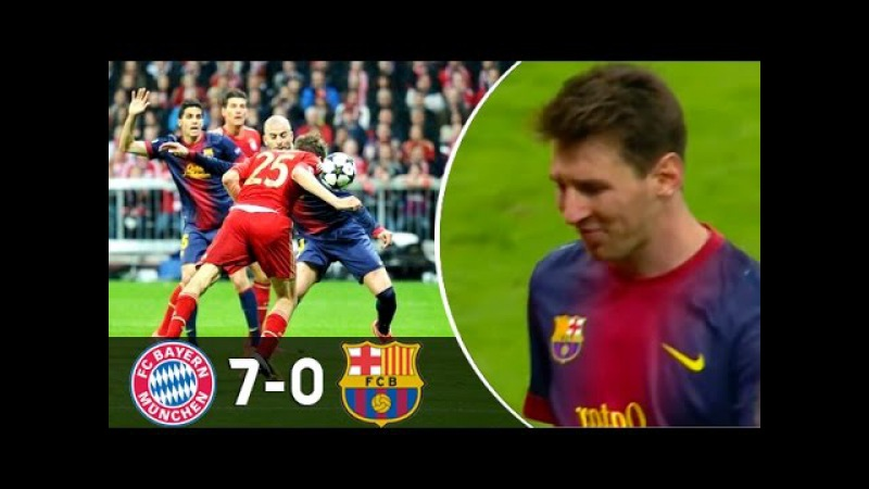 Top 7 Most Humiliating Defeats in Champions League ● Great Teams Embarrass Each Other