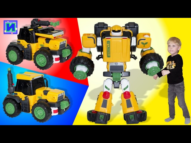 Тоботы трансформеры: Тобот Терракл Приключения. Робот, Танк и Трактор. Распаковка игрушки.