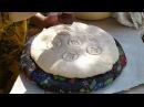 Выпечка таджикских лепешек в тандуре национальная печь в Бохтаре Курган Тюбе