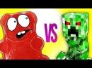 МАЙНКРАФТ VS ЖЕЛЕЙНЫЙ МЕДВЕДЬ ВАЛЕРА СУПЕР РЭП БИТВА Minecraft Creeper VS Gummy Bear Познаватель