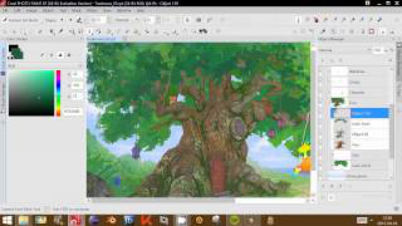 Fairy Treehouse by Tomasz Mroziński (CorelDRAW Contest - Speed Drawing Video)