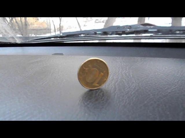 Вибрация машины тест с монеткой Honda CR-V 1996г.