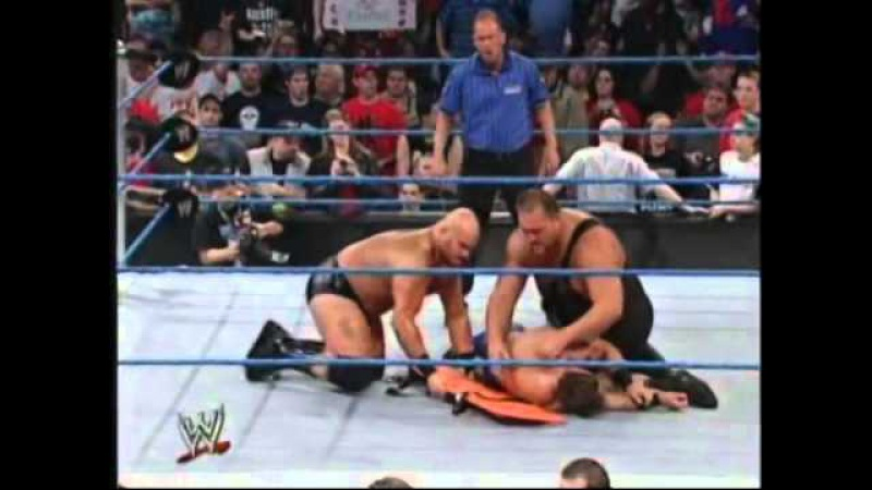 Brock Lesnar interrupts tries to save Chris Benoit from Big Show