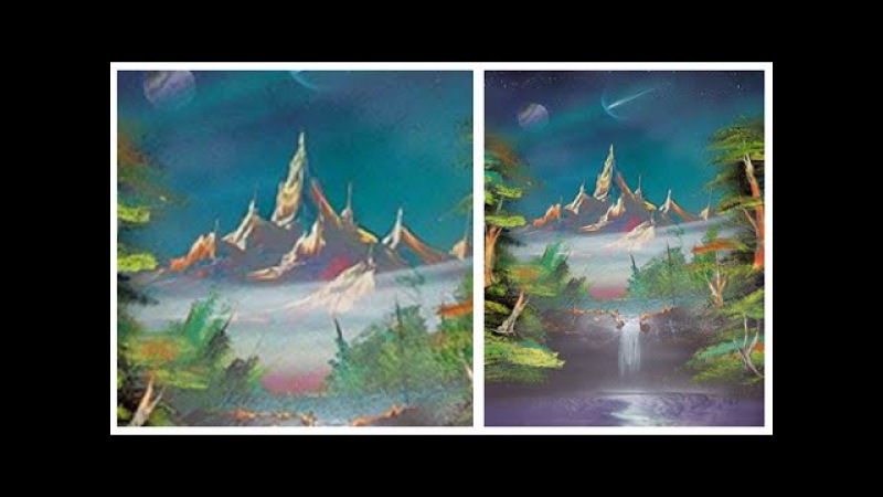 Spray Paint Art Mountain Paradisio by Trasher