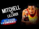 Donovan Mitchell vs Damian Lillard PG Duel 2018.02.11 - Dame With 39, ROTY With 27!  FreeDawkins