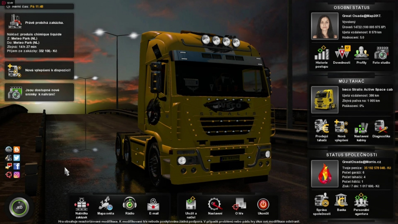 ETS 2 - Great Osada Map10.11.2017 - Producer Morris.cz