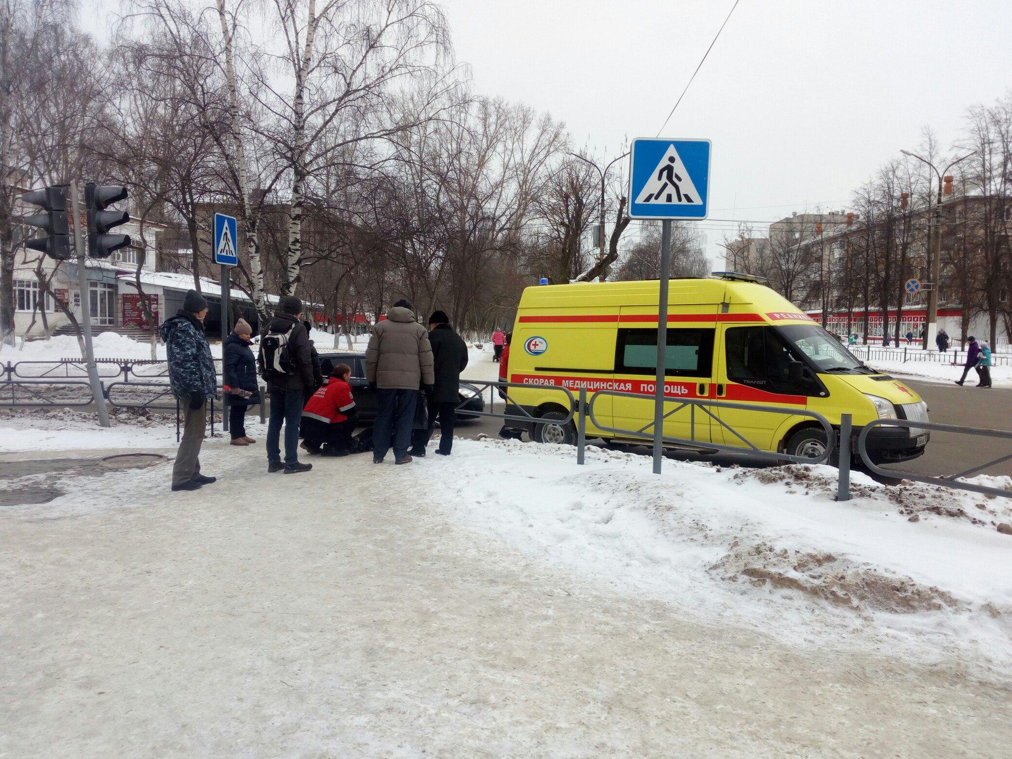очистка от снега, женщина упала, Чайковский, 2018 год