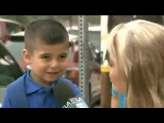 TV Reporter Makes Kid Cry When She Asks Him Are You Gonna Miss Your Mom