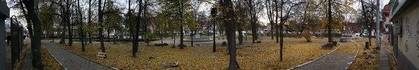 Панорама центрального парка у кремля