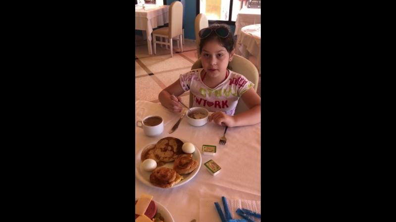 Завтракаем в отеле первый день Тунис Хамамет