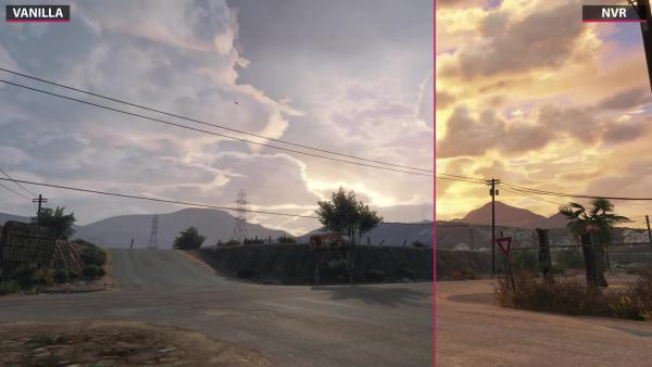 Сравнение графического мода GTA 5 - Новые облака VisualV
