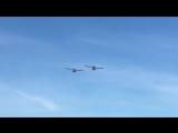 Выступление двух самолётов Сигм на Аэрофестивале.