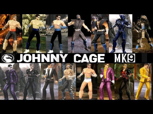 Mortal Kombat ALL JOHNNY CAGE mod MK Costume Skin PC Mod MK9 Komplete Edition MKKE