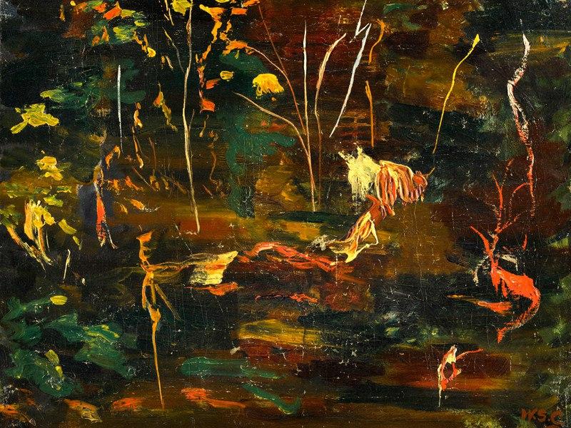 """Картину Уинстона Черчилля """"Пруд с золотыми рыбками в Чартвелле"""" продали на аукционе за $475 тыс."""