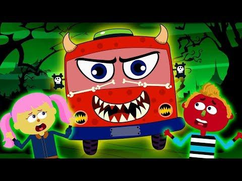 Wheels On the Bus HALLOWEEN | Scary Nursery Rhymes by Teehee Town