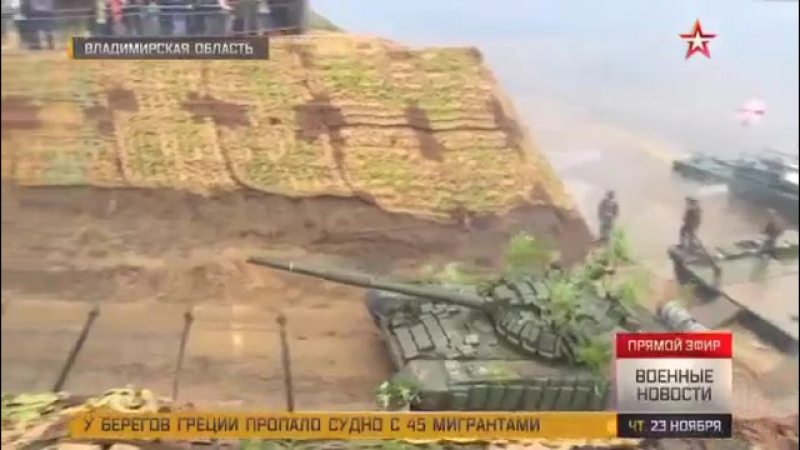 Военные инженеры возвели 300-метровый мост за считаные минуты